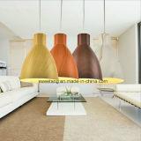 Lámpara pendiente de la lámpara de la luz del sitio de la cena con el color de madera