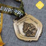 最もよい品質のカスタムマラソンのスポーツによってめっきされる卸し売り金メダル