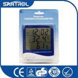 Higrómetro grande de escritorio del termómetro de Digitaces
