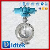 Didtekの三重の風変りな空気の作動させたステンレス鋼の蝶弁
