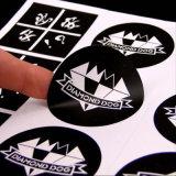 Escrituras de la etiqueta impresas del vinilo del precio bajo en Guangzhou