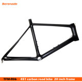 "20"" Bicicleta de carretera de fibra de carbono, carbono OEM de la luz de fibra de carbono 451 marco de la Bicicleta de carretera, 950g Super Ligero Bicicleta"