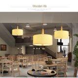 Lampe pendante de restaurant de cercle matériel moderne de tissu