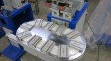 컨베이어를 가진 기계를 인쇄하는 급행 t-셔츠 의복 목 레이블 2 색깔 패드