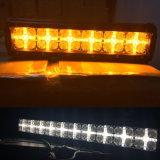 7D 34inch 216W vendent la couleur ambre blanche du voyant d'alarme de la barre DEL d'éclairage LED DRL