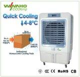 A poupança de energia por evaporação de água do refrigerador de ar do ventilador de refrigeração com proteção ambiental