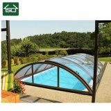 Polycarbonate transparent & Couverture de piscine en aluminium