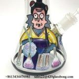 China-Lieferanten-Form Rick und Morty Handzeichnungs-Glasbecher-Glaspfeife