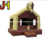 Mini Chambre Château Gonflable Boucer sourire face à la diapositive