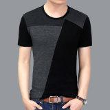 Kundenspezifisches Stutzen-T-Shirt 100% der Drucken-Qualitäts-Mann-Baumwollev