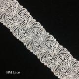 7.5cmの刺繍型のレースの端のトリムのリボンのウェディングドレスのアップリケの縫うクラフトHmhb1193