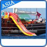 Las diapositivas de agua inflables gigantes del crucero del estilo libre dan vuelta a su yate en un Waterpark para el adulto