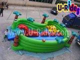 裏庭のための膨脹可能なコンボの膨脹可能なおもちゃを跳んでいる子供の運動場の恐竜