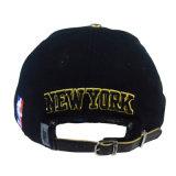 Custom черный провод фиолетового цвета хлопок спорта Man Red Hat Sanpback колпачок с 3D вышивка