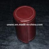 Zylinder-Bogen PU-lederner Krawatten-Kasten für das Geschenk-Verpacken