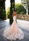 Reizvolle Form-Spitze-Backless Nixe-Hochzeits-Kleid-Brautkleid