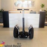 Individu sec de pouvoir étendu de boudineuse de vent équilibrant le vélo électrique de saleté