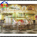 Le carrousel de cheval blanc de 16 portées joyeux circulent des conduites d'amusement