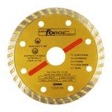 """105m m (4 """") que corta las láminas del diamante de Turbo del disco"""