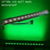 luz ao ar livre da barra da lavagem de 14X30W RGB