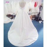 Cabeçada da V-Garganta de 161102 vendas por atacado Backless uma linha vestido de casamento com trem da varredura