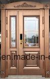 2018年の工場は直接供給する別荘の鋼鉄機密保護のドア、鉄の金属のドア(EF-V67)を