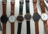 2017 de acero inoxidable de nuevo caballo de la moda de cuero auténtico estilo reloj reloj de cuarzo