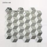 Badezimmer-Bodenbelag-Dekoration-Diamant-Form-Kristallglas-Mosaik-Fliese