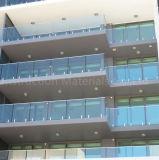 Frameless Glasgeländer für Terrasse mit Edelstahl-Zapfen