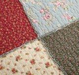 Комплект 100% постельных принадлежностей шотландки вышивки покрывала хлопка