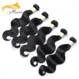 Естественный цвет Alimina Virgin необработанные человеческого волоса Extensions