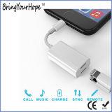 El divisor 2 in-1 de la integración se dobla relámpago/auricular/adaptador audio de la carga para el iPhone 7/7+/8/8+