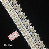 4,5 cm ruban dentelle blanche fleur Glitter Sparkle mariage robes de mariée Scrapbook Décoration de carte de garniture de couture panier cadeau hme806