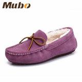 Zapatos merinos del hogar del mocasín de la zalea de Australia de la cara doble en púrpura
