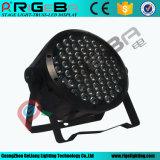 LEDの同価ライト54X3w RGBW屋内/Stageライト