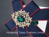 De recentste Broche van de Manier voor de Broche van het Bergkristal van de Verkoop voor Broche Bowknot van het Kostuum van Vrouwen de Donkerblauwe (cb-02)