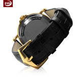 Bracelet cuir Quartz en acier inoxydable Men's Watch