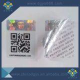 Etiqueta vaga evidente do holograma do código de Qr da calcadeira