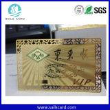 El metal de la tarjeta conocida de tarjeta del VIP grabó al agua fuerte la tarjeta de la identificación del asunto