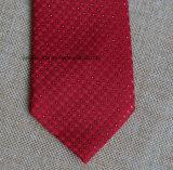 Gravata vermelha tecida poli dos pontos para o casamento