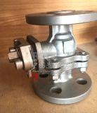 Flansch-Kugelventil des Edelstahl-pneumatischen Stellzylinder-2PC