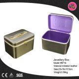 Nouveau produit Fashion tendance imitation cuir Boîte à bijoux (8716)