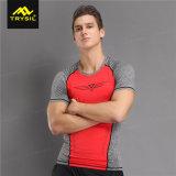 2017枚の最新のスポーツのTシャツ円形カラー能動態のワイシャツ