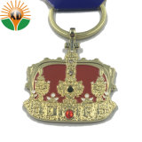 安いカスタム卸し売り柔らかいエナメルの王冠の形Keychain (KC-00112)