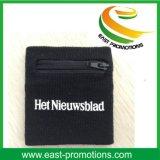 Sweatbands dei Wristbands del cotone con la casella della chiusura lampo