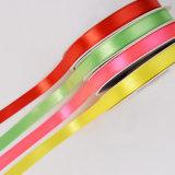 Colores surtidos de 3/8 pulgada de cinta de doble cinta de satén Frente para la decoración
