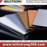 4mm en aluminium panneau composite brun ACP architectural des panneaux de signalisation de plafond de la canopée des Façades Façades Ventilées