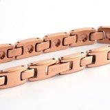 Pareja de diseño de acero de tungsteno Germanium Nagative Ion Bracelet