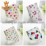 Nouveaux fournisseurs de Chine design à bas prix Cotton Unisex Triangle Bandana Baby Bibs