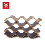 12 Bottle MDF Waved Wine Rack for Home Decorative Furniture